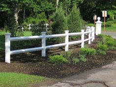 white split rail fence - Google Search
