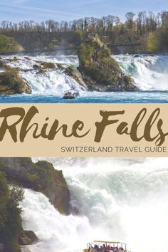 Best Travel Destinations in Europe. The Rhine Falls is the biggest waterfall in Switzerland- and it is SPECTACULAR! It's a perfect day trip from Zurich; definitely add it into your Switzerland and Europe itinerary!