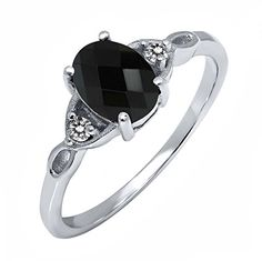 #blackdiamondgem 1.19 Ct Oval Checkerboard Black Onyx White Diamond 925 Sterling Silver Ringby Gem Stone King - See more at: http://blackdiamondgemstone.com/jewelry/119-ct-oval-checkerboard-black-onyx-white-diamond-925-sterling-silver-ring-com/#sthash.IpKl1V1o.dpuf