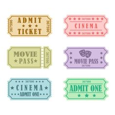 Journal Stickers, Journal Cards, Easy Movies, Cinema Ticket, Ticket Design, Movie Tickets, Cutting Tables, Nouvel An, Reset Girl