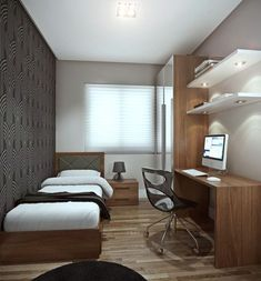 36 Awesome Modern Small Bedroom Design And Decor Ideas Small Bedroom Ideas Awesome Bedroom Decor Design Ideas Modern Small Small Apartment Bedrooms, Apartment Bedroom Decor, Small Apartments, Small Bedroom Office, Small Bedroom Interior, Student Bedroom, Small Apartment Design, Small Bedrooms, Luxury Apartments