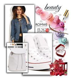 """ROMWE"" by almerisaaa ❤ liked on Polyvore featuring Converse and Aéropostale"