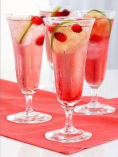 Katie Lee's Cranberry-Lime Rose Spritzer. Spritzers are perfect for a group - by adding seltzer and juice, you stretch the number of people a bottle of wine serves.