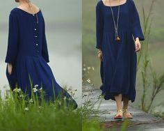 Hoi! Ik heb een geweldige listing gevonden op Etsy https://www.etsy.com/nl/listing/218447209/blue-textured-double-layers-cotton-dress