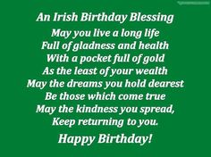 birthday greetings in ireland - Google Search More