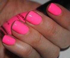 Nail Art Designs, Short Nail Designs, Nail Polish Designs, Shellac Designs, Sinful Colors Nail Polish, Neon Nail Polish, Nail Colors, Gel Polish, Neon Pink Nails