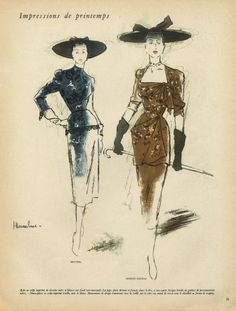 Haramboure 1947 Bruyère & Marcel Rochas by Jc. Haramboure