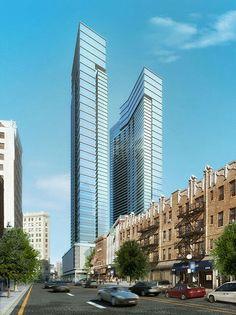 Both plans for City Center Towers — via Humphreys & Partners