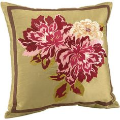 Better Homes and Gardens Embroidered Ashby Roses Pillow walmart