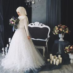 Muslim Wedding and fashion Hijabi Wedding, Muslimah Wedding Dress, Muslim Wedding Dresses, Muslim Brides, Muslim Dress, Dream Wedding Dresses, Bridal Dresses, Wedding Gowns, Bridesmaid Dresses