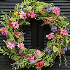 Large Floral Door Wreath - Flower Wreath - Spring Summer Door Decor