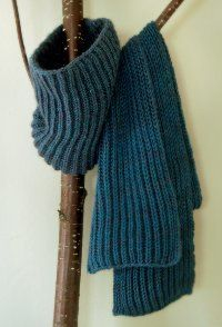 Fisherman's Rib Scarf and Cowl | AllFreeKnitting.com