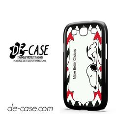 Snoopy Make Better Choice DEAL-9769 Samsung Phonecase Cover For Samsung Galaxy S3 / S3 Mini