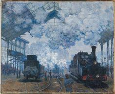 Claude Monet, The Gare Saint-Lazare: Arrival of a Train, 1877, Harvard Art Museums/Fogg Museum.