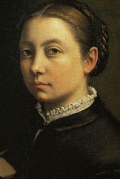 Self-portrait at the Easel, 1555-60, Sofonisba Anguissola,   Detail