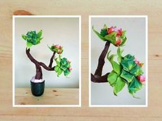 Bonsai Origami Flower Buds - YouTube