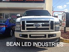 An F250 With A 21 Xtreme Series Led Light Bar Mounted In The Per From