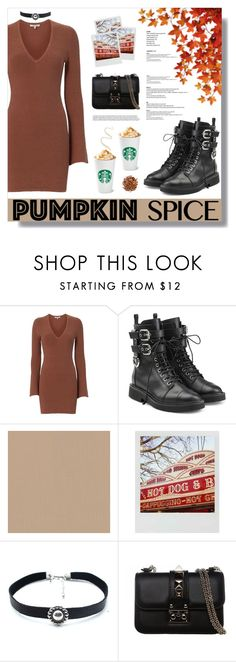 """""""Pumpkin Spice Style"""" by fashiondiaryy ❤ liked on Polyvore featuring Torn by Ronny Kobo, Giuseppe Zanotti, Polaroid, Child Of Wild and Valentino"""