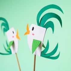 Paper cacke topper Des petits nouveaux en cours de fabrication... À piquer sur un gâteau ou dans une composition florale pourquoi pas