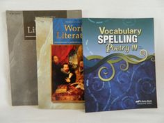 ABeka Spelling IV Workbook w. World Literature Student & Test Key, 10th  #TextbookBundleKit