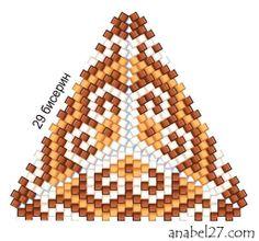 Схемы треугольников - мозаичное плетение 1 | - Схемы для бисероплетения / Free bead patterns -