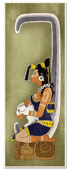 Ancient Mayan Moon Goddess, thinking of getting this: need something to represent my indigenous side.