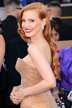 curly strawberry blonde hairstyle