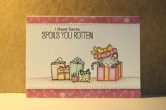 Card made with stamps from Newtons Nook Designs and inktense pencils.