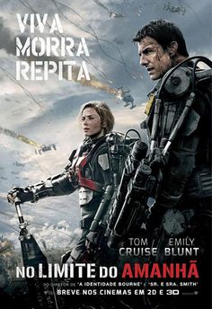Edge of Tomorrow on DVD October 2014 starring Tom Cruise, Emily Blunt, Charlotte Riley, Bill Paxton. Bill Cage (Cruise) is an officer who has never seen a day of combat when he is unceremoniously dropped into what amounts to a suici Edge Of Tomorrow, Tomorrow Today, Emily Blunt, Love Movie, Movie Tv, The Blues Brothers, Bon Film, Films Cinema, Sci Fi Movies