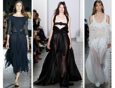The sheer fabric trend from the Rudsak runway translating into other S/S 2016 collections.
