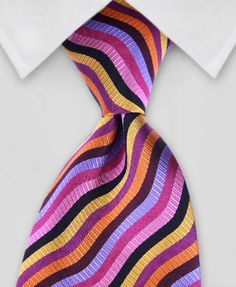 Striped Necktie - Waves