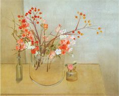 This is a still life by Morris Graves. There is a vexing mix of folksiness and depth to this...