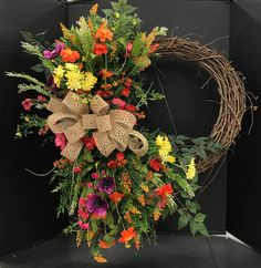Wildflower Summer Wreath by Andrea