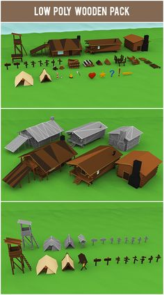 If you want to use low poly styled models in your art or upcoming game project - please visist gumroad.com/1poly or get in touch with us via facebook, twitter or email