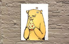 """I have a new post on Time Out Chicago today: 8 art gallery exhibitions to see in July https://www.timeout.com/chicago/blog/8-art-gallery-exhibitions-to-see-in-july-070116 (This is """"Pizza Party"""" by the Bear Champ at Galerie F.) #art #artist #artists #streetart #graffiti #print #painting #sculpture #photography #space #science #familyhistory #family #history #families #race #ethnicity #culture #socialissues #activism #music #fun #events #thingstodo #artgalleries #artshows #artexhibits #drawing"""