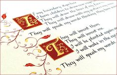 Illuminated Calligraphy... would love to have the time to create beautiful work like this.