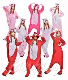 Hot Kigurumi Pajamas Animal Cosplay Costume Unisex Adult Onesie Sleepwear Dress #Unbranded #CompleteOutfit