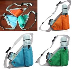 Hot Fashion Unisex Water Drinking Bottle Holder Running Jogging Cycling Belt Bag #New