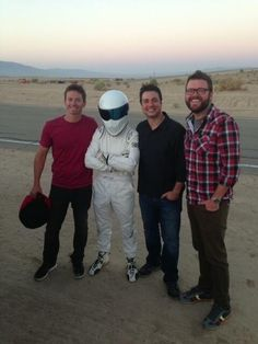 Top Gear Boys: Tanner Foust, Stig, Adam Ferrara, Rutledge Wood. Best show on TV