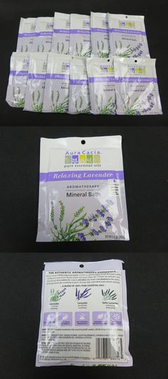Bath Salts: Aura Cacia Aromatherapy Relaxing Lavender Mineral Bath 2.5 Oz Lot Of 12 -> BUY IT NOW ONLY: $33.95 on eBay!