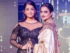 What happened when the two gorgeous divas, Rekha and Aishwarya Rai Bachchan, were on the same stage. Read to know the full story...