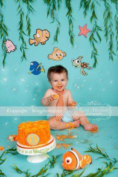 Nemo Cake Smash !!!! Bubbles....bubbles...bubbles.... :o)