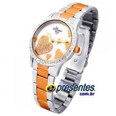 92ae6d24f83 KW75220S Relógio Feminino Análogo Condor New Strass Coração