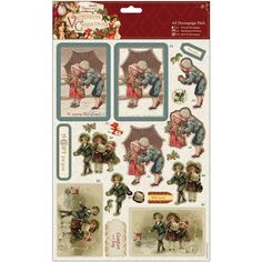 docrafts Papermania Victorian Christmas A4 Decoupage Pack-Children
