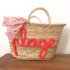 Panier - tricotin Crochet, Straw Bag, Burlap, Reusable Tote Bags, Wool, Deco, Knitting, Images, Letter