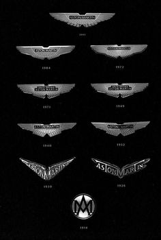 This is so awesome! The best cars in the world, and every logo they've had!!!
