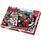 Trefl-90501-160Pieces Jigsaw Puzzle-Disney Marvel Avengers Team Tattoos