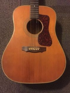 #guitar Vintage 1972 Guild D44 Acoustic Guitar New Martin Strings please retweet #vintageguitars
