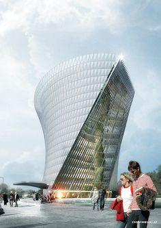 Shortlist für Flughafenquartier in Frankfurt / Hochhaus-Visionen - Architektur und Architekten - News / Meldungen / Nachrichten - BauNetz.de