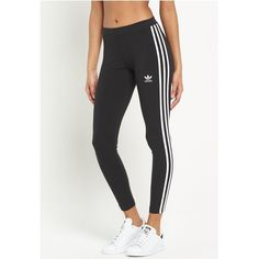 Adidas Originals Originals 3 Str Ipe Leggings ($37) ❤ liked on Polyvore featuring women's fashion, pants, leggings, white trousers, adidas originals, white legging pants, white pants and leggings pants
